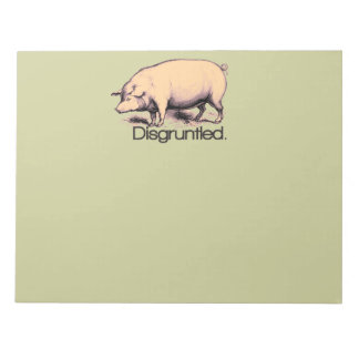 Disgruntled Pig Notepad