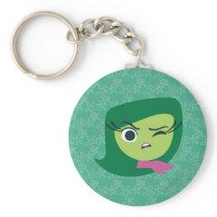 Disgust Basic Round Button Keychain