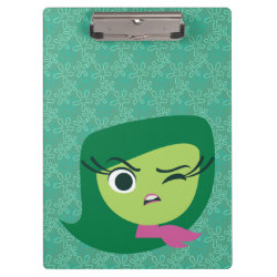 Clipboard with Cute Cartoon Disgust from Inside Out design