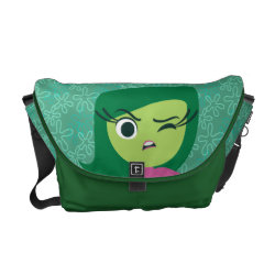 Rickshaw Medium Zero Messenger Bag with Cute Cartoon Disgust from Inside Out design