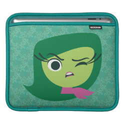 iPad Sleeve with Cute Cartoon Disgust from Inside Out design