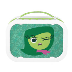 Green yubo Lunch Box with Cute Cartoon Disgust from Inside Out design