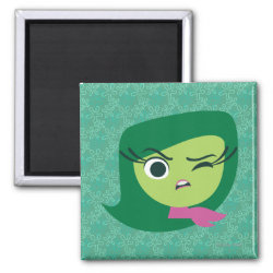 Square Magnet with Cute Cartoon Disgust from Inside Out design