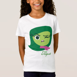 Girls' Fine Jersey T-Shirt with Cute Cartoon Disgust from Inside Out design