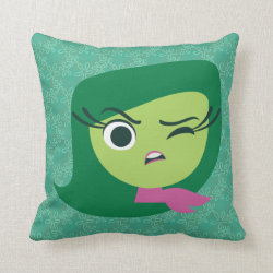Cotton Throw Pillow with Cute Cartoon Disgust from Inside Out design