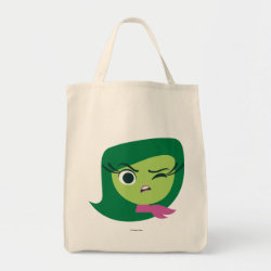 Grocery Tote with Cute Cartoon Disgust from Inside Out design