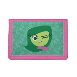 TriFold Nylon Wallet with Cute Cartoon Disgust from Inside Out design
