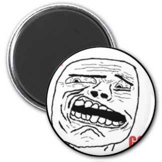 Disgusted Oh God Comic Face 2 Inch Round Magnet
