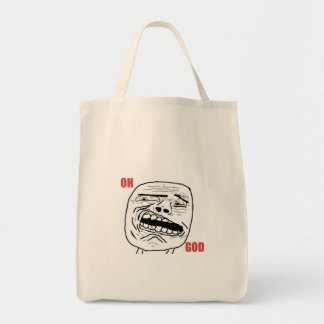Disgusted Oh God Comic Face Canvas Bag