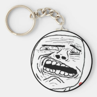 Disgusted Oh God Comic Face Keychain