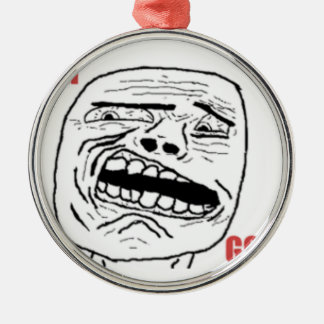 Disgusted Oh God Comic Face Metal Ornament