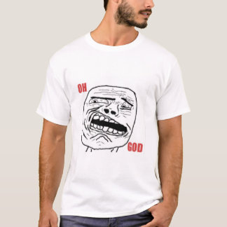 Disgusted Oh God Comic Face T-Shirt