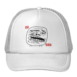 Disgusted Oh God Comic Face Trucker Hat