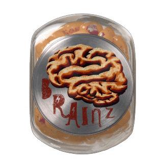 Disgusting Brainz Gross Halloween Party Treats Glass Jar