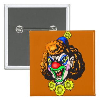 Disgusting Evil Clown 2 Inch Square Button