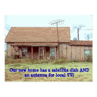 Dish AND Antenna! - Funny Change of Address Postcard