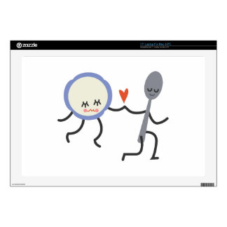"Dish And Spoon 17"" Laptop Skin"