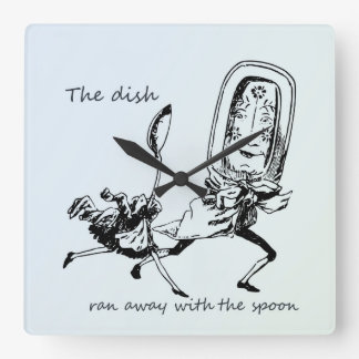 Dish and the Spoon Square Wall Clock
