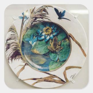Dish, c.1870-80 square sticker