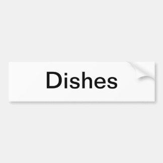 Dish Cabinet Sign/ Car Bumper Sticker