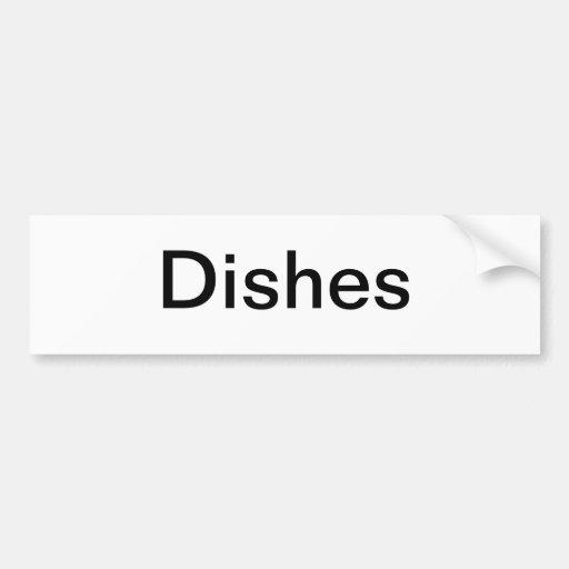 Dish Cabinet Sign/ Bumper Stickers