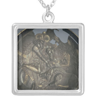 Dish decorated with a scene of Prince Varahran Silver Plated Necklace