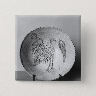 Dish decorated with birds button