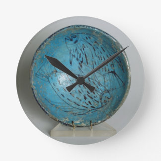 Dish decorated with fish (faience) wallclock