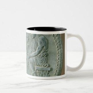 Dish depicting herdsman, goats and dog Two-Tone coffee mug