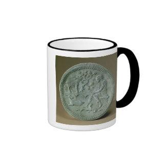 Dish depicting herdsman, goats and dog ringer coffee mug