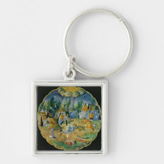 Dish depicting the gathering of manna keychain