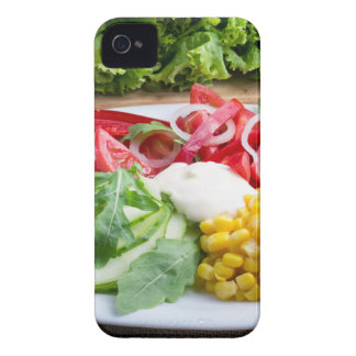 Dish from tomatoes, bell-pepper, mozzarella cheese iPhone 4 Case-Mate case