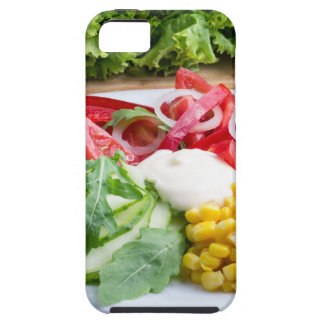 Dish from tomatoes, bell-pepper, mozzarella cheese iPhone SE/5/5s case