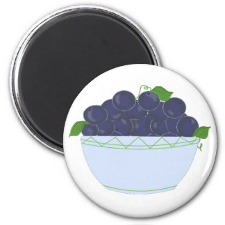 Dish of Blueberries Magnets