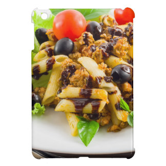 Dish of Italian pasta rigatoni with bolognese Case For The iPad Mini