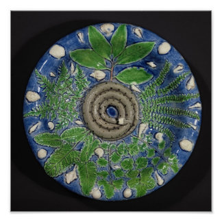 Dish, Palissy Ware Poster