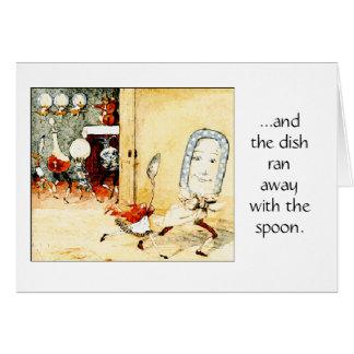 Dish Ran Away with the Spoon, Greeting Card