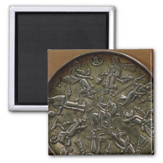Dish relief decoration depicting goddess fridge magnets