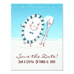 """Dish & Spoon Save the Date Wedding Announcement 4.25"""" X 5.5"""" Invitation Card"""
