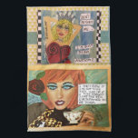 "Dish towel<br><div class=""desc"">Bad girl art</div>"