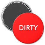 Dish Washer Magnet - DIRTY