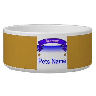 """""""Dish Washer Safe Dog Bowls"""" Rescued Pet Pride Bowl"""