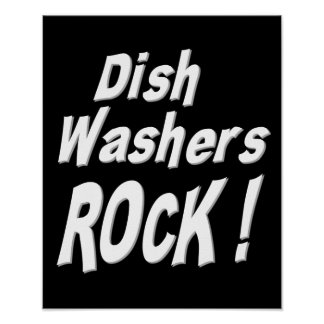 Dish Washers Rock Poster Print