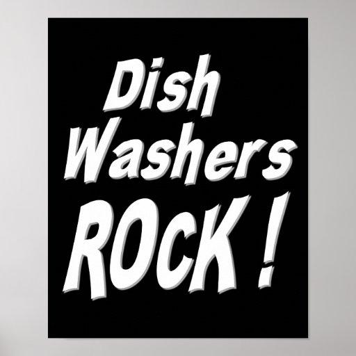 Dish Washers Rock! Poster Print