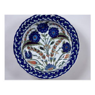 Dish with a floral decoration, Iznik Postcard