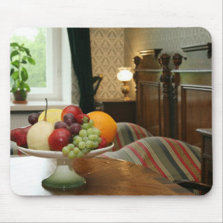 Dish with different fruits mouse pad
