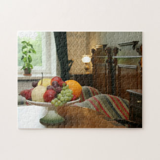 Dish with different fruits jigsaw puzzle