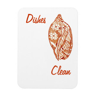 Dishes Clean Shell Magnet