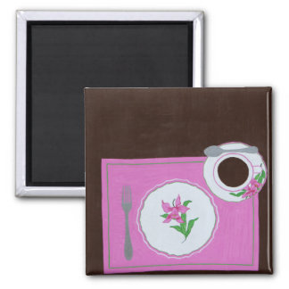 Dishes from Dallmayr 2 Inch Square Magnet