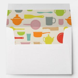 Dishes Pattern Envelopes